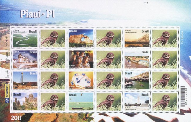 [Tourism - Piauí. Personalized Stamps, type ]