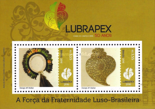 [The 50th Anniversary of LUBRAPEX - Luso-Brazilian Philately Exhibition - Joint Issue with Portugal, type ]