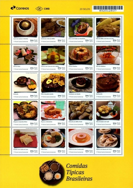 [America UPAEP Issue - Typical Meals, Typ ]