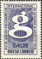 [The 18th Anniversary of the International Geographical Congress, Rio de Janeiro, type AFZ]