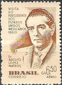 [Airmail - Visit of the Mexican President, type AJE]