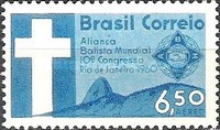 [Airmail - The 10th Anniversary of the Baptist World Alliance Congress, Rio de Janeiro, type AJP]