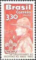 [Airmail - The 50th Anniversary of the Scouting in Brazil, type AJQ]