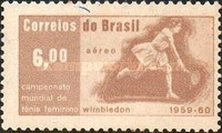 [Airmail - Maria Bueno's Wimbledon Tennis Victories, 1959-60, type AJY]