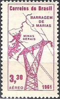[Airmail - Inauguration of Tres Marias Hydro-electric Station, type AKB]