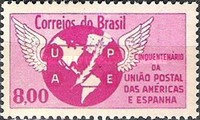 [The 50th Anniversary of the Postal Union of the Americas and Spain, type ALD]