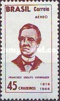 [Airmail - The 150th Anniversary of the Birth of Francisco Varnhagen, 1816-1878, type AOC]