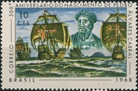 [The 500th Anniversary of the Birth of Pedro Cabral, Discoverer of Brazil, 1468-1526, type AQU]