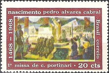 [The 500th Anniversary of the Birth of Pedro Cabral, Discoverer of Brazil, 1468-1526, type AQY]