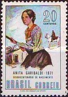 [The 150th Anniversary of the Birth of Anita Garibaldi, 1821-1849, type AVH]