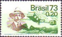 [The 100th Anniversary of the Birth of Alberto Santos Dumont, Aviation Pioneer, 1873-1932, type AYU]