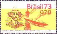 [The 100th Anniversary of the Birth of Alberto Santos Dumont, Aviation Pioneer, 1873-1932, type AYV]