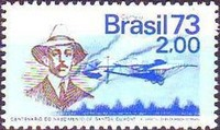 [The 100th Anniversary of the Birth of Alberto Santos Dumont, Aviation Pioneer, 1873-1932, type AYW]