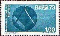 [The 150th Anniversary of the Masonic Grand Orient Lodge of Brazil, type AZE]