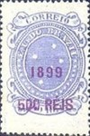 [Issue of 1890-1891 Surcharged in Lilac Red, type BE3]