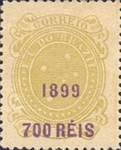 [Issue of 1890-1891 Surcharged in Lilac Red, type BE4]