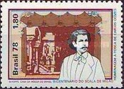[The 200th Anniversary of the La Scala Opera House, Milan, and Carlos Gomes Commemoration, type BIX]