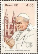 [Papal Visit and the 10th Anniversary of the National Eucharistic Congress - Pope John Paul II and Cathedrals, type BNW]