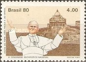[Papal Visit and the 10th Anniversary of the National Eucharistic Congress - Pope John Paul II and Cathedrals, type BNX]