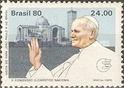 [Papal Visit and the 10th Anniversary of the National Eucharistic Congress - Pope John Paul II and Cathedrals, type BNY]