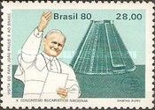 [Papal Visit and the 10th Anniversary of the National Eucharistic Congress - Pope John Paul II and Cathedrals, type BNZ]