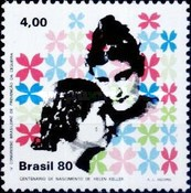 [The 100th Anniversary of the Birth of Helen Keller, and the 4th Brazilian Anniversary of the Congress on Prevention of Blindness, Belo Horizonte, type BOF]