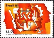 [The 50th Anniversary of the Ministry of Labour, type BRM]