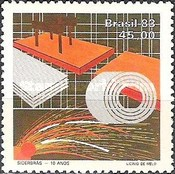 [The 10th Anniversary of Siderbras, Brazilian Steel Corporation, type BWM]