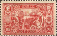 [The 100th Anniversary of the Opening of Brazilian Port, type BX]