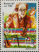 [The 100th Anniversary of the Birth of Heitor Villa-Lobos, 1887-1958, type CEP]
