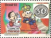 [The 150th Anniversary of the First Brazilian Stamps - No Value Expressed - Cartoon Characters, type CRF]