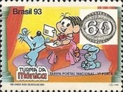 [The 150th Anniversary of the First Brazilian Stamps - No Value Expressed - Cartoon Characters, type CRG]