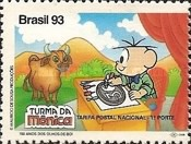 [The 150th Anniversary of the First Brazilian Stamps - No Value Expressed - Cartoon Characters, type CRI]