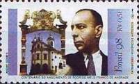 [The 100th Anniversary of the Birth of Rodrigo Melo Franco de Andrade, Founder of Federal Institution for Preservation of the National Historic and Artistic Patrimony, 1898-1969, type DEV]