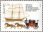 [The 200th Anniversary of the Reorganization of Maritime Mail Service between Portugal and Brazil, type DFL]