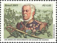 [The 200th Anniversary of the birth of the Duke of Caxias, type DUZ]