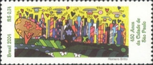[The 450th Anniversary of the City of Sao Paulo, type DVW]