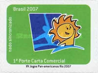 [The 15th Anniversary of the Pan American Games Rio - Self Adhesive Stamps, type EAB]