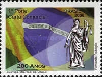 [The 200th Anniversary of the Arrival of the Portuguese Royal Family in Brazil - Federal Union Military Justice, type ECD]