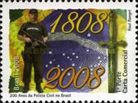 [The 200th Anniversary of the Arrival of the Portuguese Royal Family in Brazil - Civil Police, type ECP]