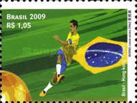[Diplomatic Relations Brazil-Hong Kong - Football, type EFX]
