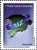 [The 150th Anniversary of the Caixa Economica Federal - Personalized Stamp, type EJD]