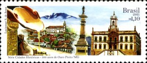 [The 300th Anniversary of the City of Ouro Preto - State of Minas Gerais, type EJU]