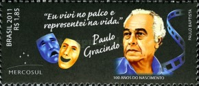 [The 100th Anniversary of the Birth of Paulo Gracindo, 1911-1995, type EJW]