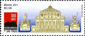 [The 100th Anniversary of the Municipal Theatre of Sao Paulo, type EKE]
