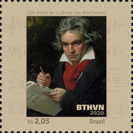 [The 250th Anniversary of the Birth of Ludwig van Beethoven, 1770-1827, type FNO]
