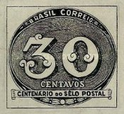 [The 100th Anniversary of the Brazilian Postage Stamps, type IK]