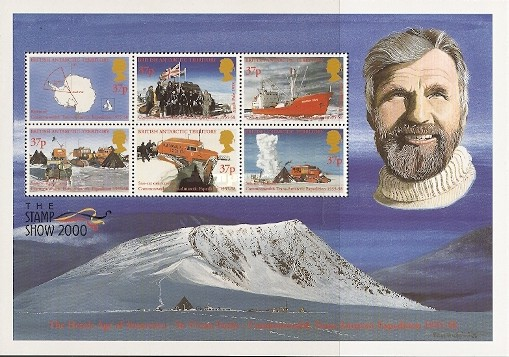 [Commonwealth Trans-Antarctic Expedition of Vivian Fuchs, British Geologist and Polar Explorer, and International Stamp Exhibition