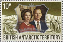 [The 25th Wedding Anniversary of Queen Elizabeth II and Prince Philip, Typ AB1]