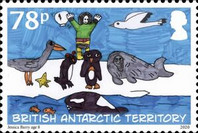 [The 200th Anniversary of the Discovery of Antarctica - Children's Art, type AFE]